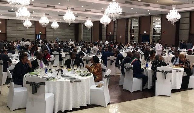 Banquete Presidencial en el Gran Hotel Djibloho por ocasión de la celebración del 3 de Agosto.
