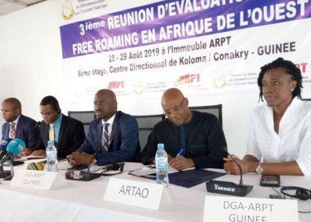 Los siete países de África Occidental, firmantes del Roaming Gratuito, evalúan el nivel de progreso del proyecto.