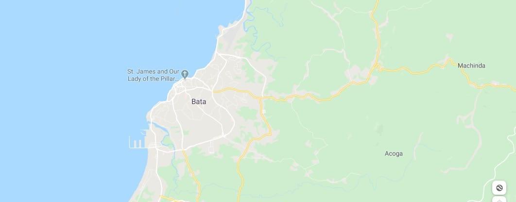Mapa de la ciudad de bata guinea ecuatorial