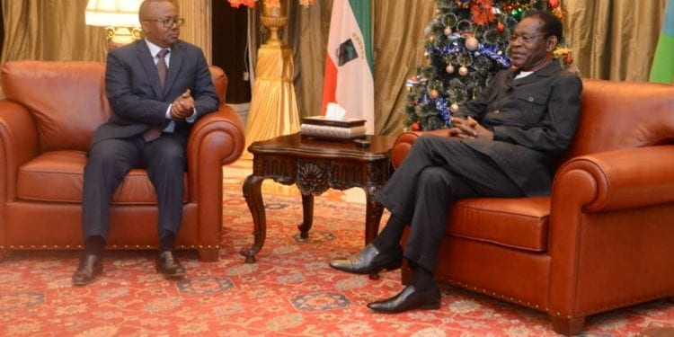 Umaru Sissoko Embalo visita Guinea Ecuatorial.