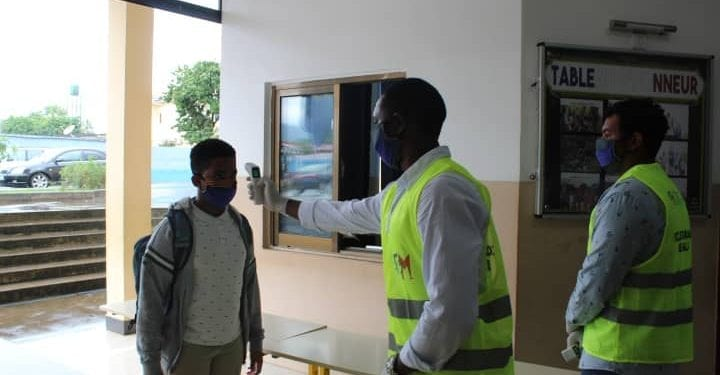 École Française reinicia sus actividades académicas con un blindaje dispositivo de seguridad anti-covid