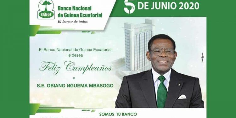 BANGE felicita a S.E. Obiang NGUEMA MBASOGO por el 78 aniversario de su natalicio.