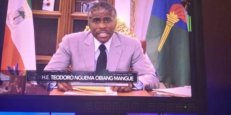 """Teodoro Nguema Obiang Mangue: """"Teg Campus es una iniciativa que pone a nuestro país como referente tecnológico en la subregión de la CEMAC""""."""