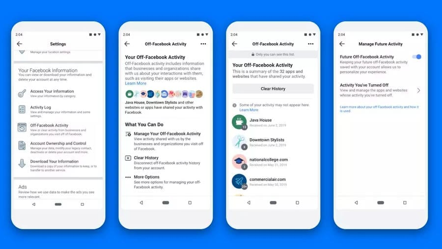 Facebook puede ver tu actividad en la Web. ¿cómo evitarlo?