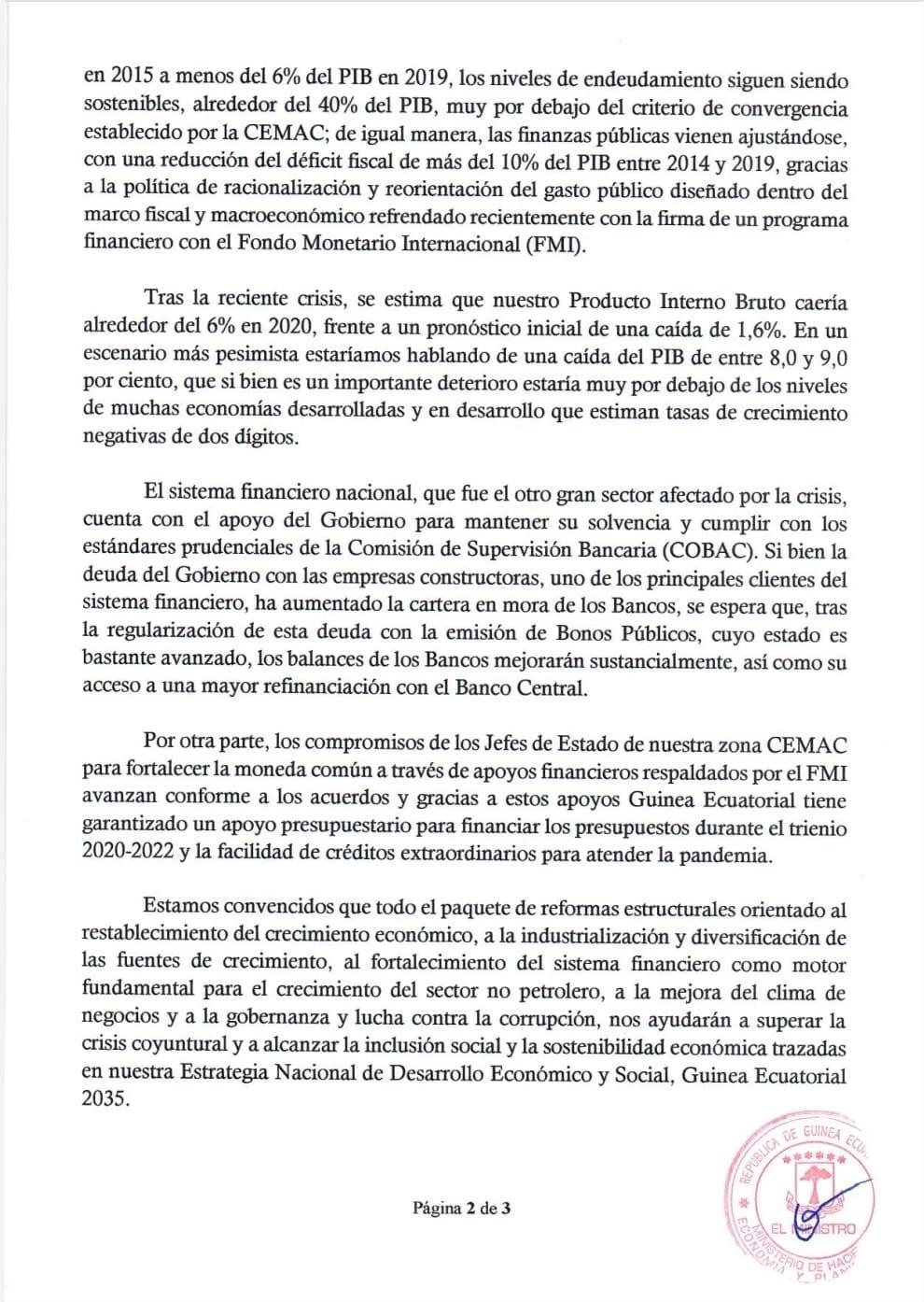 COMUNICADO DE PRENSA: Ministerio de Hacienda, Economía y Planificación