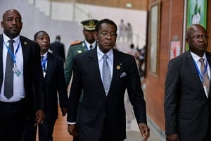 Llegada de Su Excelencia Obiang Nguema Mbasogo a Bata