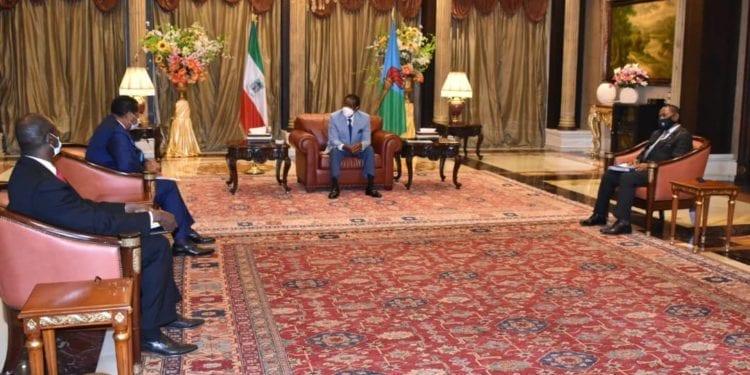 El Presidente Obiang recibe a una delegación de la CEMAC