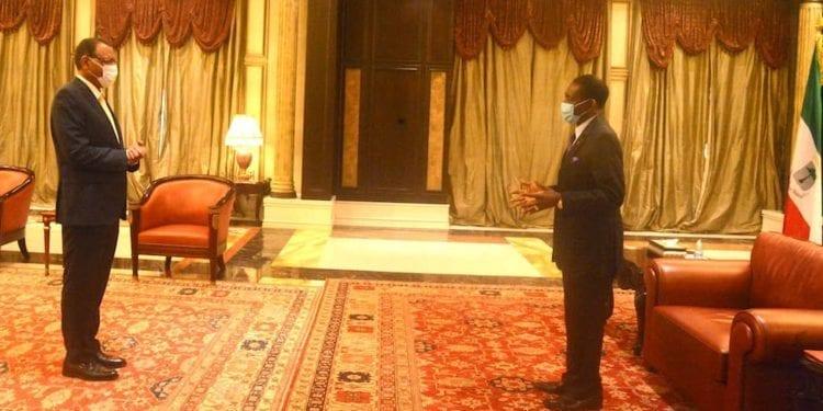 El Presidente Obiang recibe al enviado especial del Presidente en Ejercicio de la Comunidad de Estados de África del Oeste