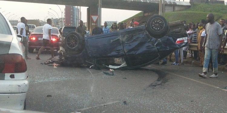 Brutal accidente de circulación en las inmediaciones del Ministerio de la Seguridad