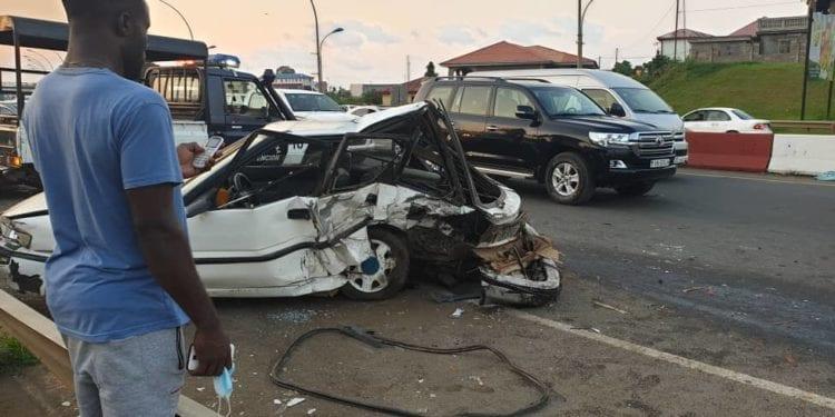 Terrible accidente de circulación en la autovía de Malabo