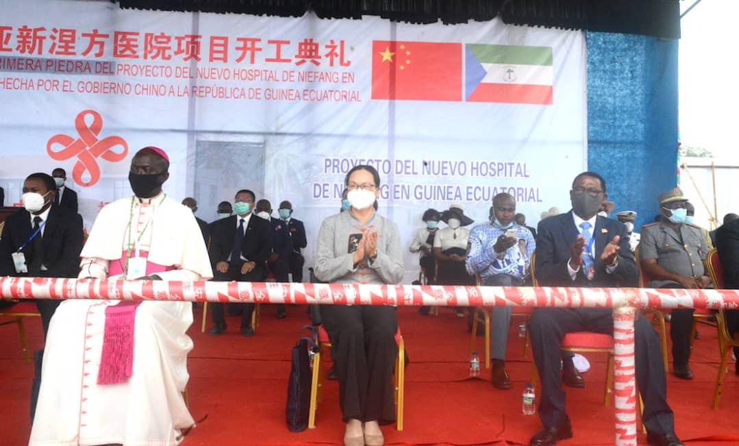 Puesta de primera piedra del hospital de Niefang financiado por el Gobierno Chino