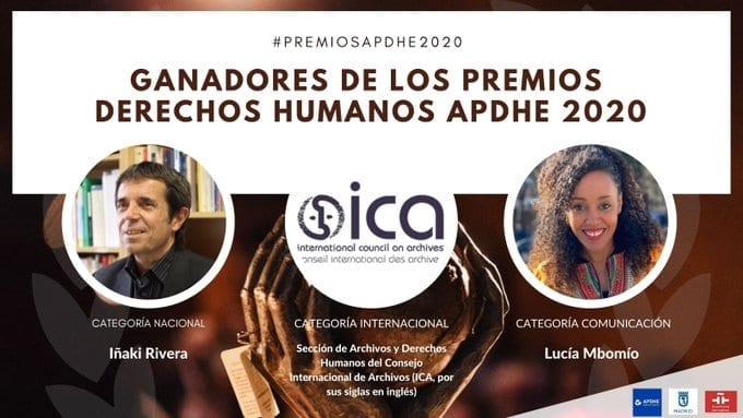 La periodista ecuatoguineana Lucía MBOMIO gana: el Premio de Derechos Humanos APDHE 2020 en la categoría de comunicación