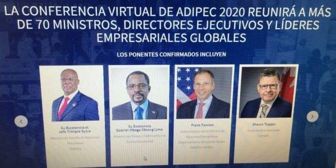 Mbega Obiang Lima participa en la conferencia virtual de ADIPEC 2020