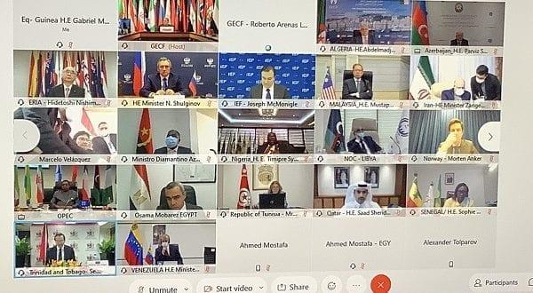 El ministro de Minas e Hidrocarburos participa en la 22 sesión de la reunión ministerial de la GECF