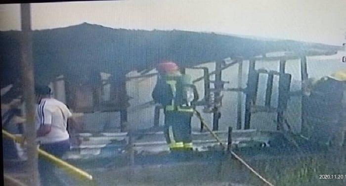 Incendio en el barrio Alcaide de Malabo