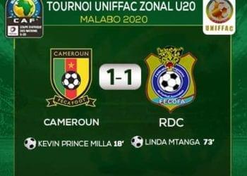Camerun y la República Democrática del Congo empatan en el primer partido de la UNIFFAC