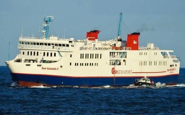 """San Valentín reduce el coste de billete a 15.000 FCFA en el viaje inaugural de su nuevo ferry """"San Valentin 3"""""""