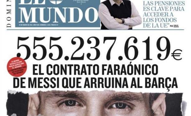 555.237.619 euros en cuatro años: Faraonico contrato de Messi