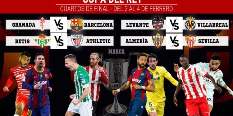 Cuartos de Copa del Rey: dos derbis y el gordo cae en Granada