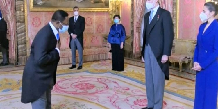 El Embajador de Guinea Ecuatorial asiste a la recepción anual de los Reyes de España