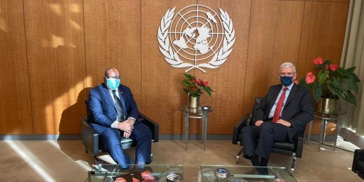 El Representante Permanente de G.E. ante la ONU se reúne con el Presidente de la Asamblea General