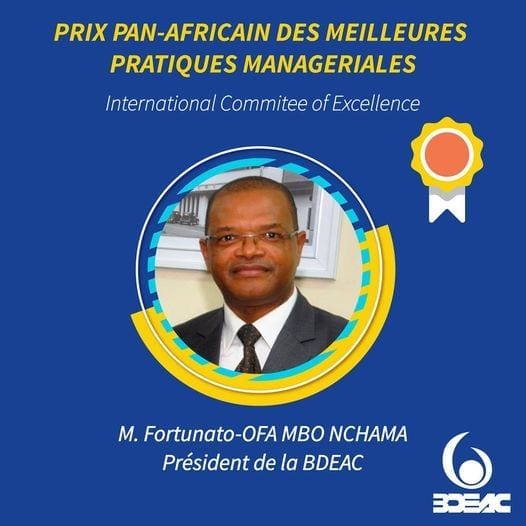 Fortunato-Ofa MBO NCHAMA recibe el Premio Panafricano de Mejores Prácticas de Gestión 2020