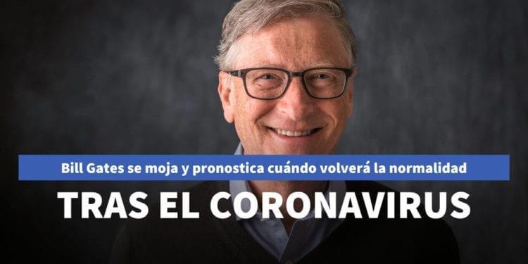 Bill Gates se moja y pronostica cuándo volveremos a hablar de normalidad