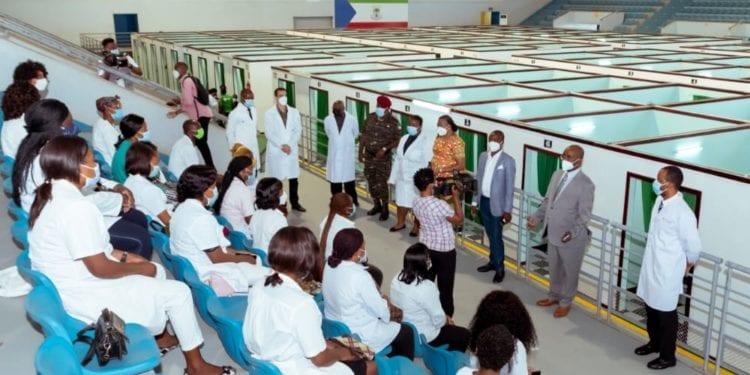 Covid-19: Sanidad habilita la nave del polideportivo de Malabo para pacientes de coronavirus