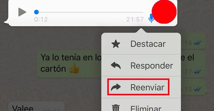 Cómo compartir un archivo de audio de WhatsApp en otras plataformas