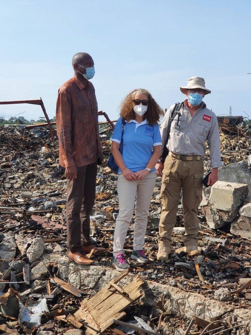 Coordinadora Residente de las Naciones Unidas sigue en Bata para coordinar las misiones de apoyo al 7M