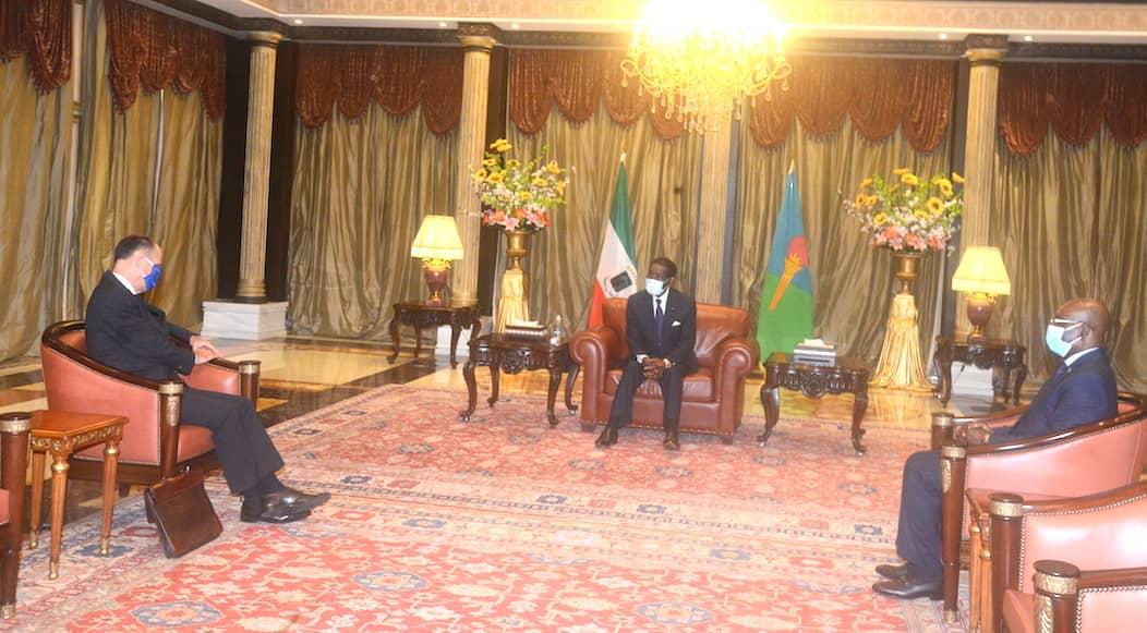El Presidente de la República, concede audiencias por separado a los embajadores de Francia y Estados Unidos en Guinea Ecuatorial