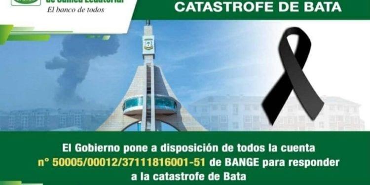 El Gobierno pone a disposición una cuenta bancaria para responder a la catástrofe de Bata
