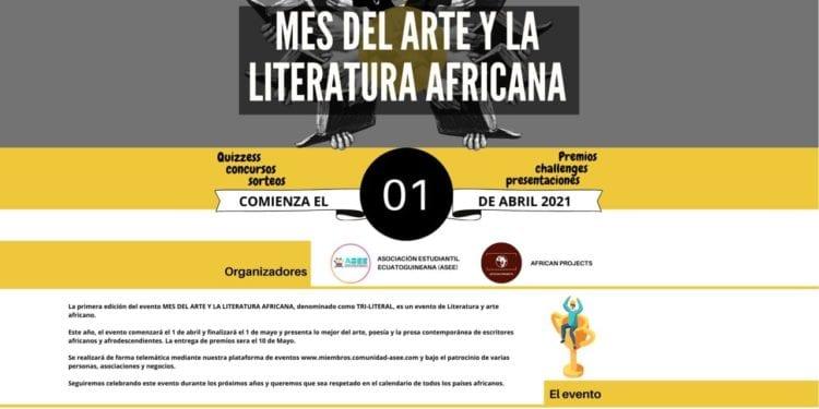 Lanzamiento de la primera edición del evento MES DEL ARTE Y LA LITERATURA AFRICANA, que se ha denominado TRI-LITERAL