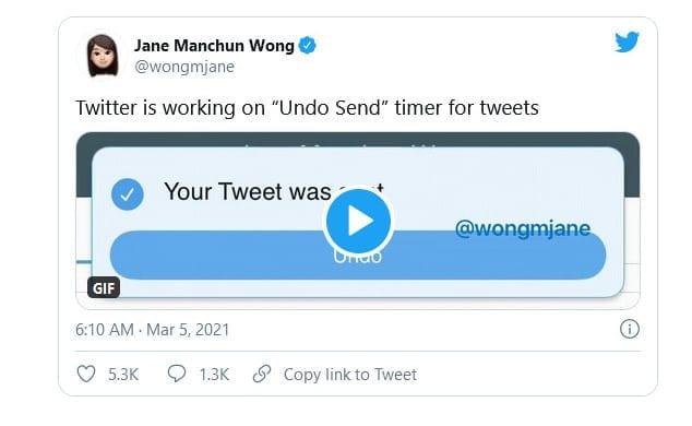 """Twitter está trabajando en la función """"Deshacer envío"""""""