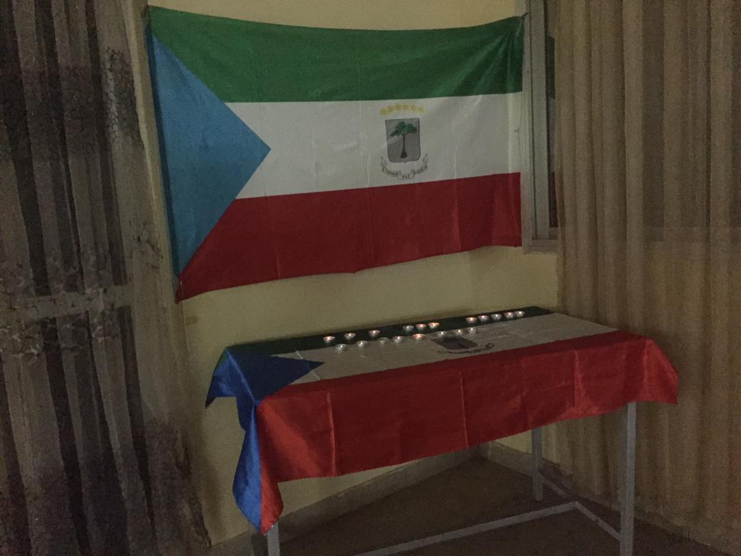 Estudiantes ecuatoguineanos en Niamey (NIGER) muestran su apoyo a los damnificados del 7M