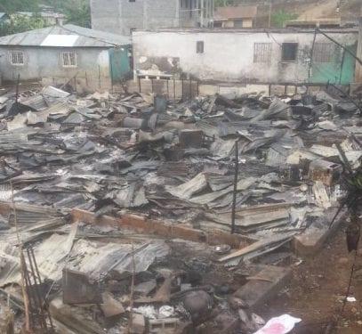 14 viviendas, carbonizadas en primer incendio de abril declarado en la ciudad de Malabo