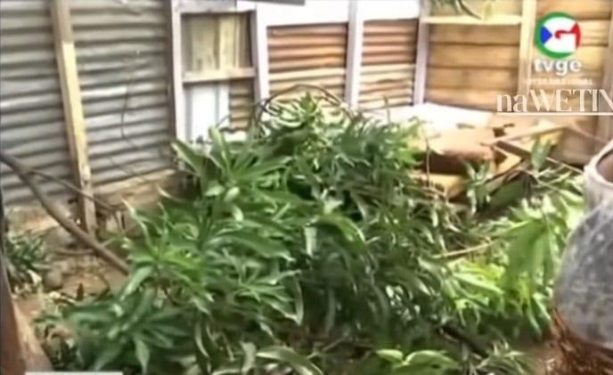 El fuerte temporal arrancó hasta los techos de algunas viviendas en Malabo