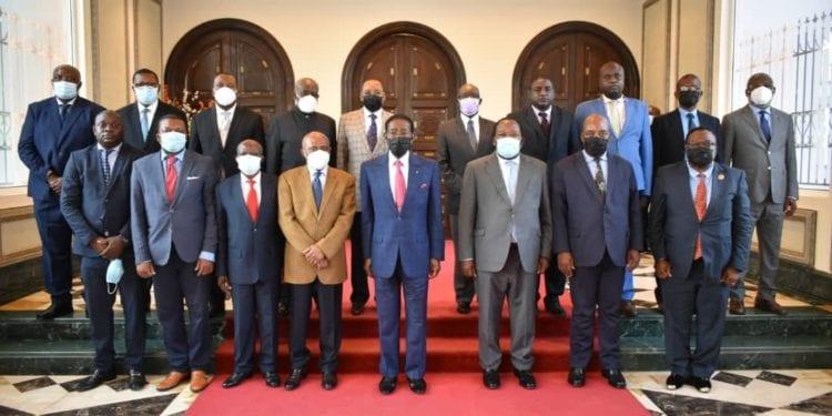 Reunión de concertación del presidente de la republica con líderes de la coalición democrática