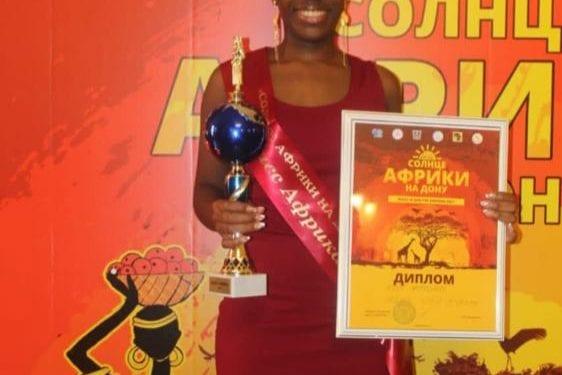 Isabel Nguema Koba Gana el certamen universitario miss & mister África Ruso