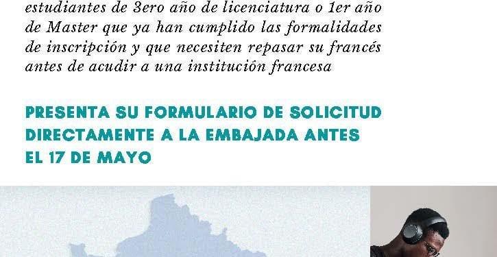 La Embajada de Francia en Malabo convoca a los estudiantes ecuatoguineanos a un programa de perfeccionamiento de la lengua francesa