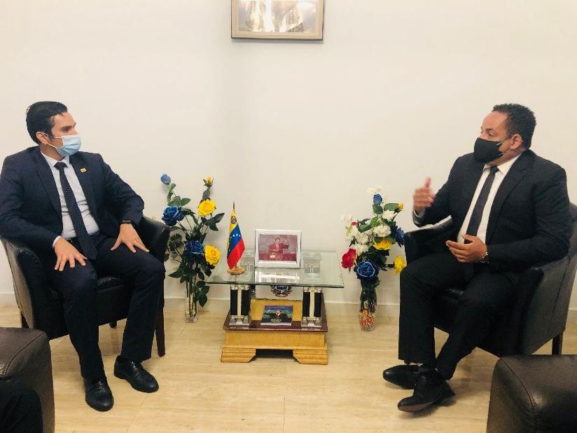Encuentro entre el Embajador de Venezuela en Malabo y el Director del Instituto Nacional de Administración Pública (INAP)