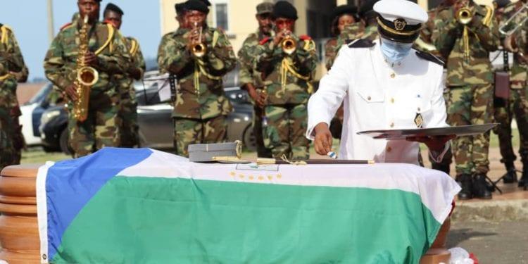 funeral del general  ayer  11 de mayo de 2021
