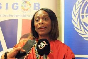 Elsie Laurence, Representante de PNUD en G.E.