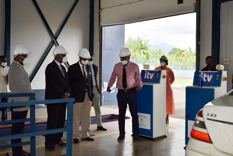 Consejeros en materia de industrias y energía visitan la sede de la ITV en Malabo
