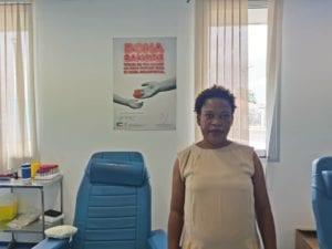 Maria del Sol Muana Reina, coordinadora del los centros de transfusión sanguínea