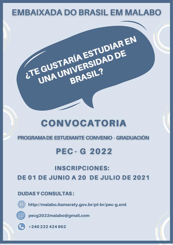 La Embajada de Brasil lanza por tercer año consecutivo el Programa de Estudiante Convenio-Graduación