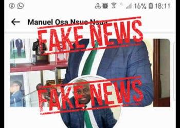 FAKE NEWS: Perfil falso en Facebook del Director General de BANGE