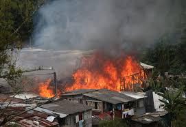 Un incendio arrasa las viviendas de nueve familias del barrio Semu