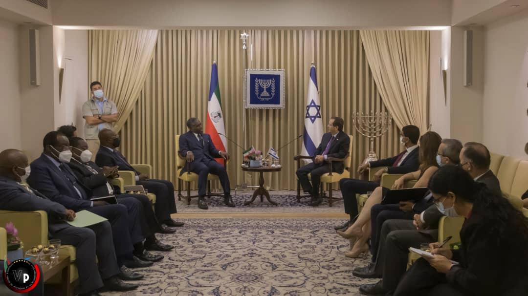 Isaac Herzog, Presidente de Israel recibe a Teodoro Nguema Obiang Mangue