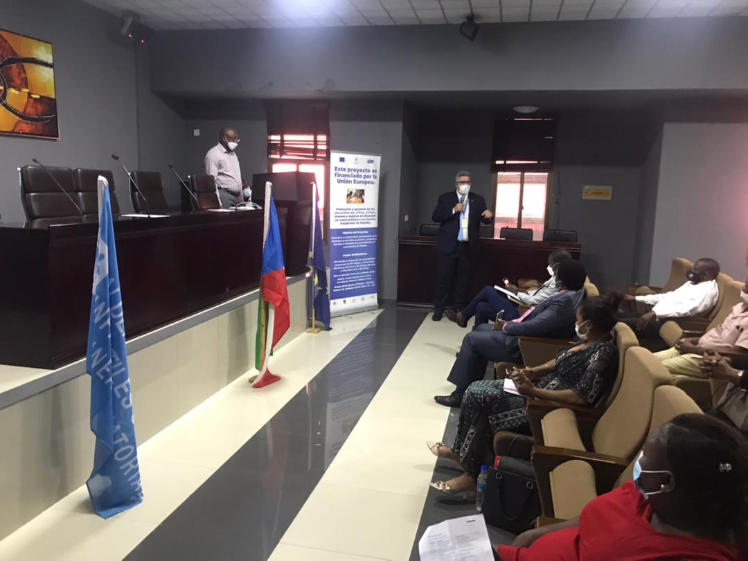 """Lanzamiento del Proyecto: """"Promoción y garantía de los derechos de los niños, niñas, jóvenes y mujeres en situación de vulnerabilidad en los barrios marginales de Malabo"""""""